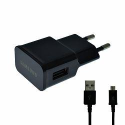 KUĆNI PUNJAČ ORIGINAL ZA SAMSUNG ETAU90EBE, N7100, 2A +MIKRO USB CRNI BULK