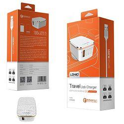 KUĆNI PUNJAČ 2 U 1 LDNIO A1204Q 1*USB(5V, 2.4 A) IPHONE 5