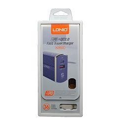 KUĆNI PUNJAČ BRZI 2 U 1 LDNIO A2502C PD+QC3.0 FAST IPHONE 5
