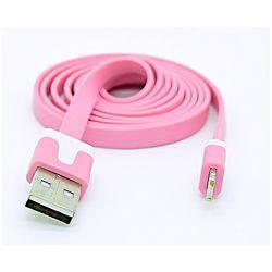 USB KABEL ZA APPLE IPHONE 5 /IPAD MINI/IPAD4/NOODLE ROZI