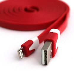 USB KABEL ZA APPLE IPHONE 5/IPAD MINI/IPAD4/ NOODLE CRVENI