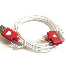 USB KABEL IPHONE 4G SVJETLEĆI CRVENI