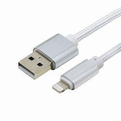 USB KABEL +CLASS IPHONE 6/7/8/X/XS/XR/11 PLETENI 1 m BIJELI