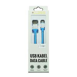USB KABEL +CLASS TIP C SILIKONSKI, USB NA TIP C DUŽINE 1.2 m PLAVI