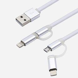 USB KABEL LDNIO LC84 2 U 1 IOS (IPHONE 5)+ANDROID (MICRO) 1m BIJELI