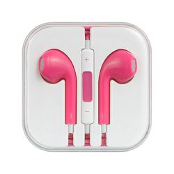 HANDS FREE ZA APPLE  IPHONE 5 3.5 MM PINK