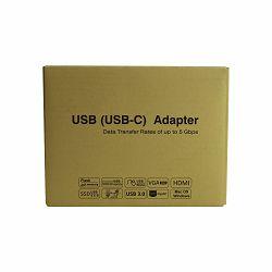 ADAPTER HUB N-UHSC21 USB NA 3*USB 3 I ZVUČNA KARTICA