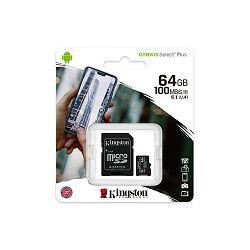 MEMORIJSKA KARTICA KINGSTON MIKRO SD 64 GB, SDCS2/64GB BLISTER