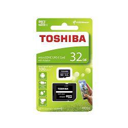 MEMORIJSKA KARTICA TOSHIBA CLASS 10 32GB MIKRO SA SD ADAPTEROM