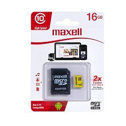 MEMORIJSKA KARTICA MAXELL MIKRO SD HC/CL10 16GB BLISTER