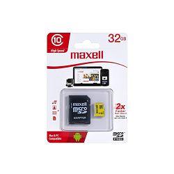 MEMORIJSKA KARTICA MAXELL MIKRO SD HC/CL10 32GB BLISTER