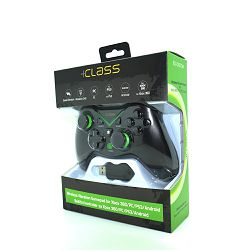 KONTROLER +CLASS BEŽIČNI EG-C5070W ZA XBOX 360, PC, PS3, ANDROID 4 CRNI